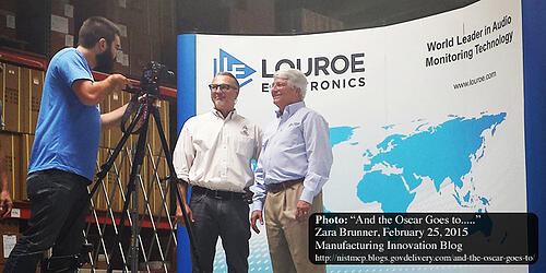 CEO of Louroue Electronics, Richard Brent (right), is recognized as a Hero in American Manufacturing.