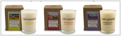 bath petals candles made in california products
