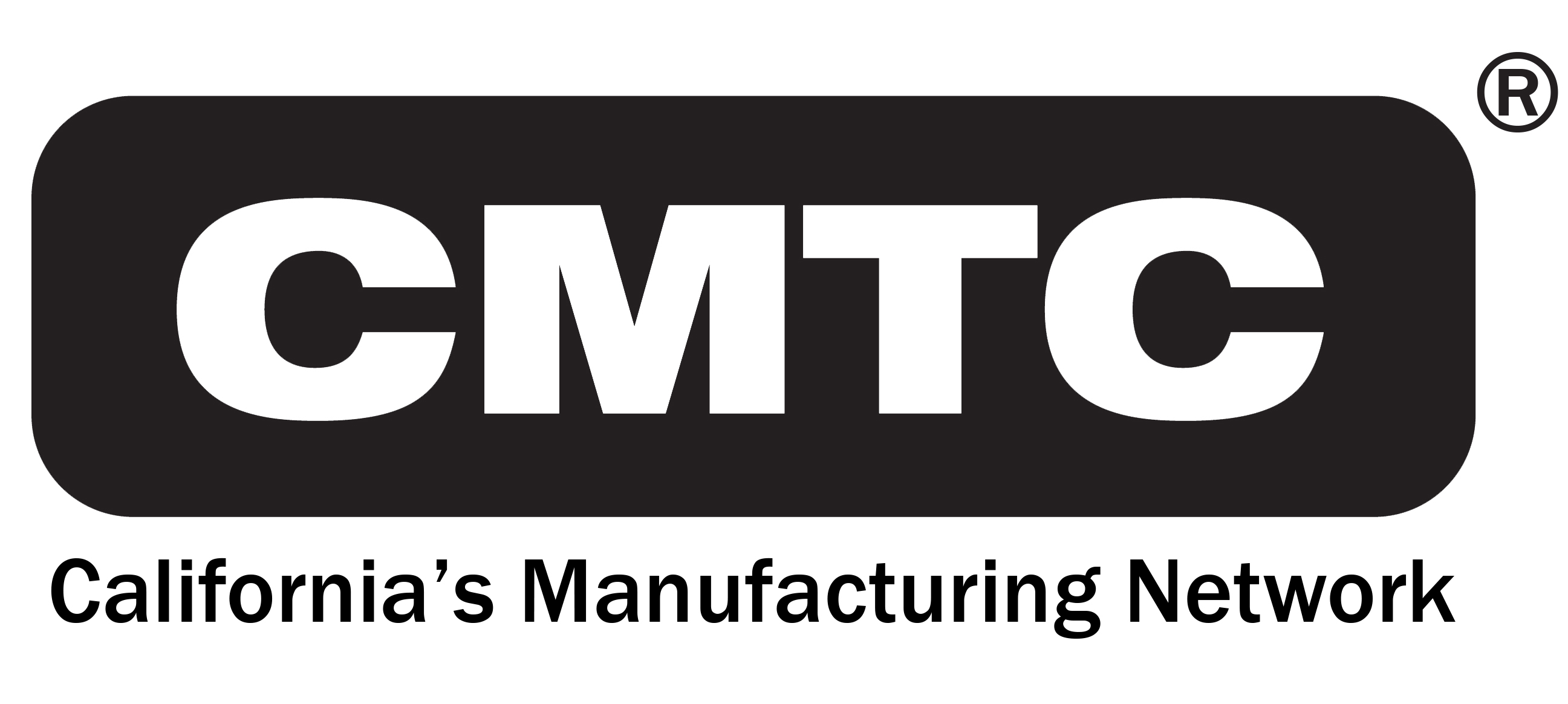 CMTC - California's Manufacturing NETWORK - logo with NEW tagline black 91317-2