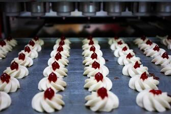 Pastries ready for packaging in a California manufacturing plant