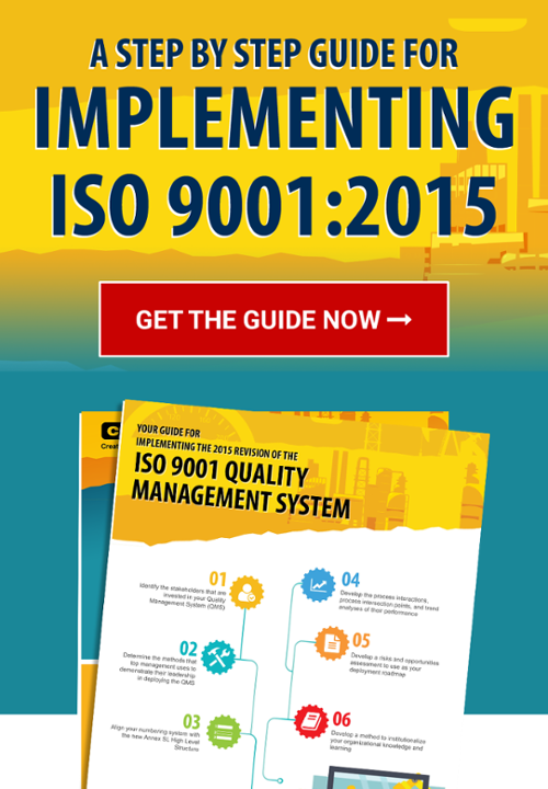 Call to Action Button for CMTC's Guide for Implementing ISO 9001:2015