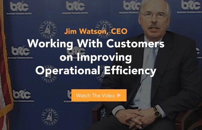 Jim Watson Working With Customers on Improving Opperational Efficiency